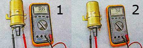 Измерение сопротивлений катушки зажигания