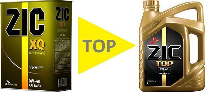 Масло ZIC TOP 0W40: моторное, синтетическое