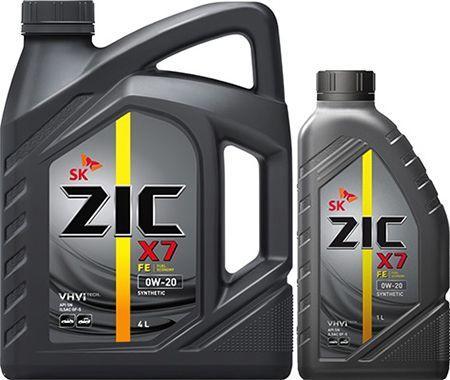 Масло ZIC X7 FE 0W-20: моторное, синтетическое