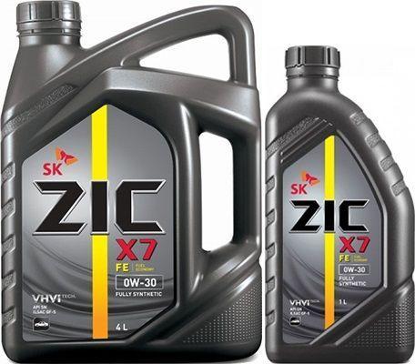 Масло ZIC X7 FE 0W30: моторное, синтетическое
