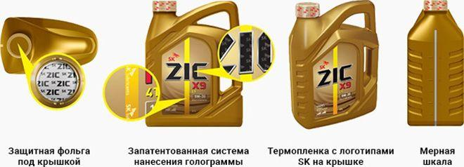 Масло ZIC X9 5W30: моторное, синтетическое