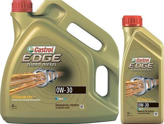 Масло Castrol EDGE Turbo Diesel 0W30: дизельное, синтетическое