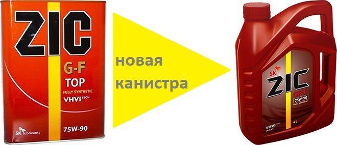 Масло для МКПП ZIC GFT 75W-90: трансмиссионное, синтетическое