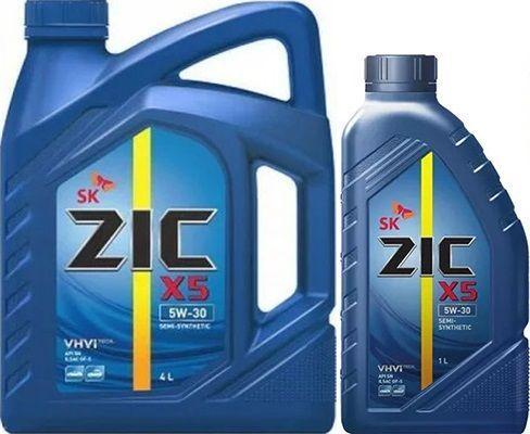 Масло ZIC X5 5W30: моторное, полусинтетическое