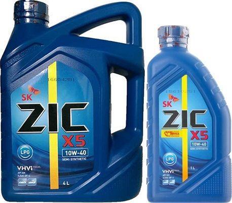 Масло ZIC X5 LPG 10W40: моторное, полусинтетическое