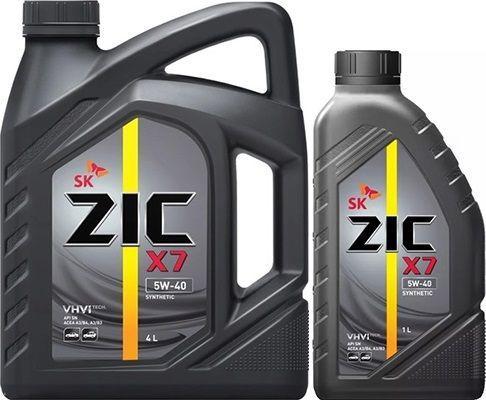 Масло ZIC X7 5W40: моторное, синтетическое