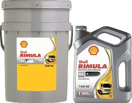 Масло SHELL Rimula R4 X 15W40: моторное, минеральное