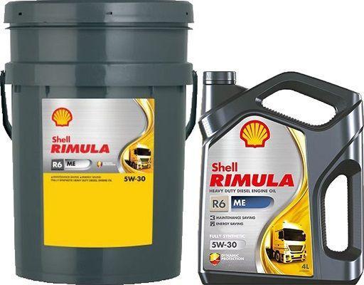 Масло SHELL Rimula R6 ME 5W30: моторное, синтетическое