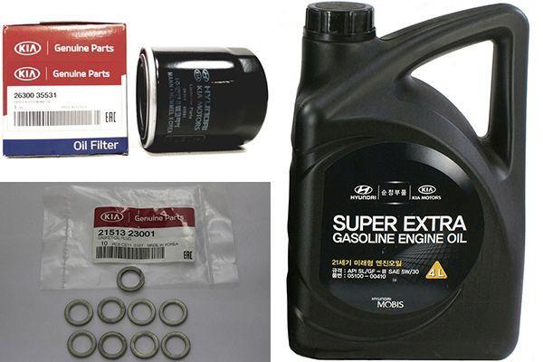 Как поменять масло в двигателе на Киа Соренто