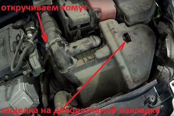Как поменять масло в двигателе на Пежо 308