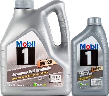 Масло Mobil 1 0W-20: моторное, синтетическое
