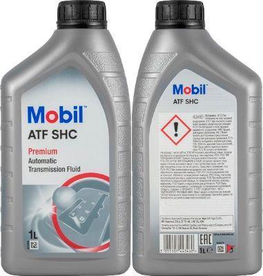 Масло для АКПП Mobil ATF SHC: трансмиссионное, синтетическое