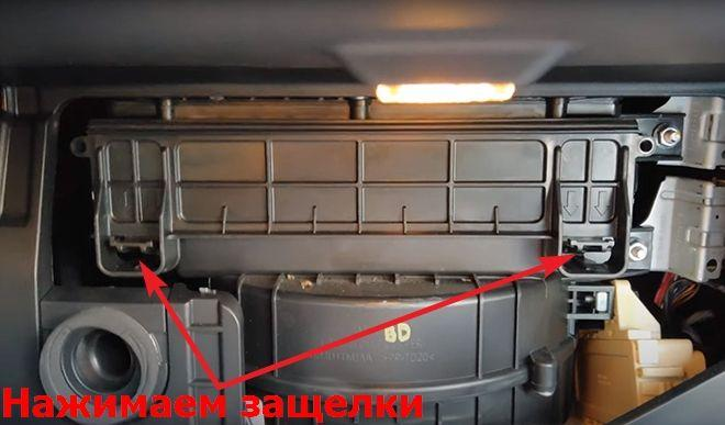 Как заменить салонный фильтр на Хендай Санта Фе 4